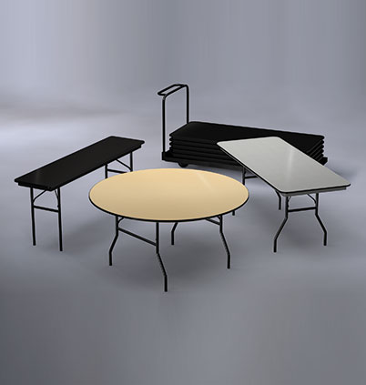 Classic Series Lightweight ABS Plastic Folding Tables