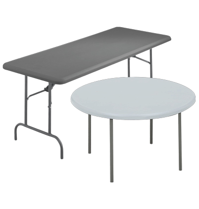 Resilient Premium Economy Plastic Tables